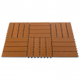 Lot de 5 dalles de terrasse WODHY clipsables bois composite effet teck