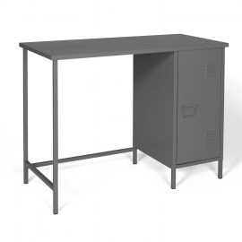 Bureau 1 porte ESTEL en métal gris foncé