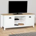 Meuble TV bois et blanc IGOR