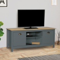 Meuble TV IGOR bois et gris