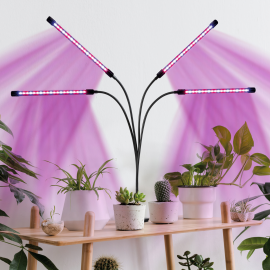 Lampe de croissance 4 têtes 80 LED 3 éclairages pour plantes