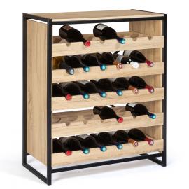 Etagère range bouteilles design industriel