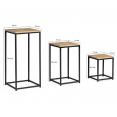 Lot de 3 tables d'appoint design industriel