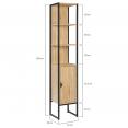 Meuble colonne DETROIT 1 porte design industriel