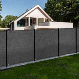 Brise vue renforcé 1,5 x 10 M gris 150 gr/m²