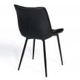 Lot de 4 chaises MADY noires pour salle à manger
