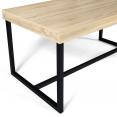Table à manger PHILA à bords larges 6 personnes design industriel 150 cm