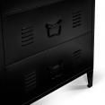 Commode 3 tiroirs ESTEL en métal noir