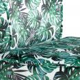 Fauteuil crapaud en velours motif jungle
