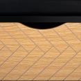 Banc coffre d'entrée LEONI bois imitation hêtre et coussin noir