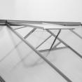 Serre de jardin aluminium polycarbonate 12.25m² 4.90x2.50x1.90m