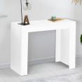 Table console extensible ORLANDO 6 personnes 140 cm bois blanc