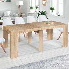 Table console extensible ORLANDO 10 personnes 235 cm bois façon hêtre