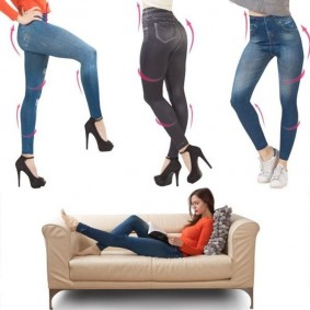 Jegging lot X3 XXL legging imitation jean gainant femme