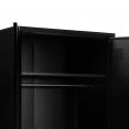 Armoire vestiaire penderie 2 portes ESTEL en métal noir