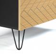 Commode vintage LEONI 3 tiroirs motifs graphiques