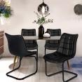 Lot de 4 chaises MAE noires pour salle à manger
