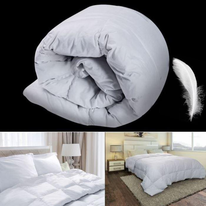 couette plume d 39 oie 140x200 cm anti acariens confort et. Black Bedroom Furniture Sets. Home Design Ideas