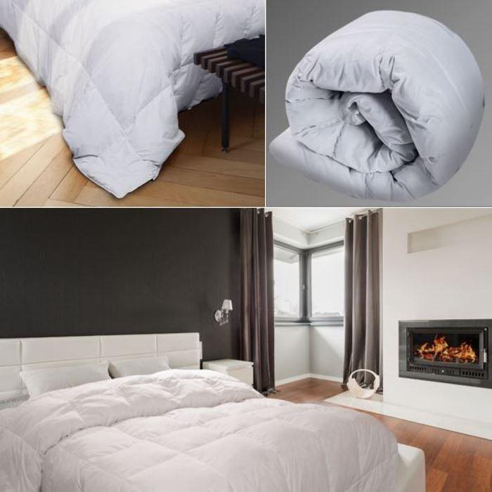 couette plume d 39 oie 220x240 cm anti acariens confort et. Black Bedroom Furniture Sets. Home Design Ideas