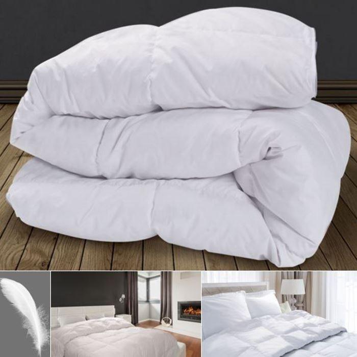 couette plume d 39 oie 220x240 cm anti acariens confort et literie. Black Bedroom Furniture Sets. Home Design Ideas
