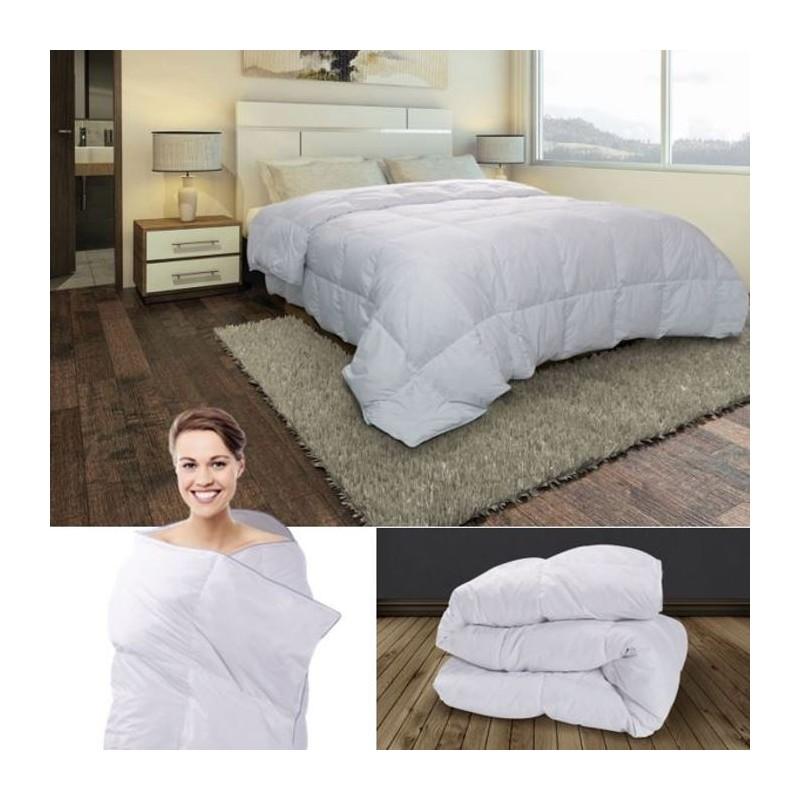 couette plume d 39 oie 240x260 cm anti acariens confort et literie. Black Bedroom Furniture Sets. Home Design Ideas
