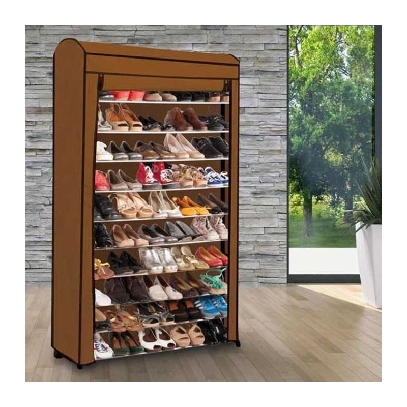 Etag re range chaussures 50 paires eco avec sa housse for Housse pour etagere