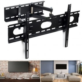 "Support TV pivotant inclinable capacité 100 kg TV LCD plasma LED 81-153 cm 32 à 60"" vesa"