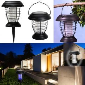 Lanterne anti-moustique énergie solaire 2 en 1 lampe anti-insecte