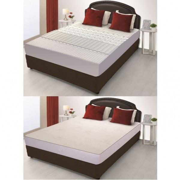 matelas m moire de forme 5 zones 140 190cm housse aloe. Black Bedroom Furniture Sets. Home Design Ideas