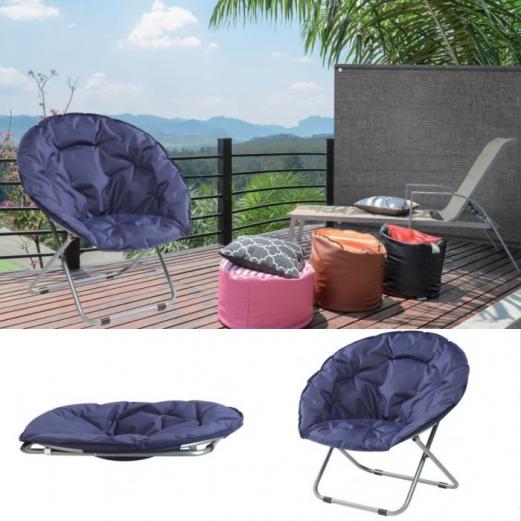 Fauteuil lune pliant siège rembourré extérieur chaise camping plage