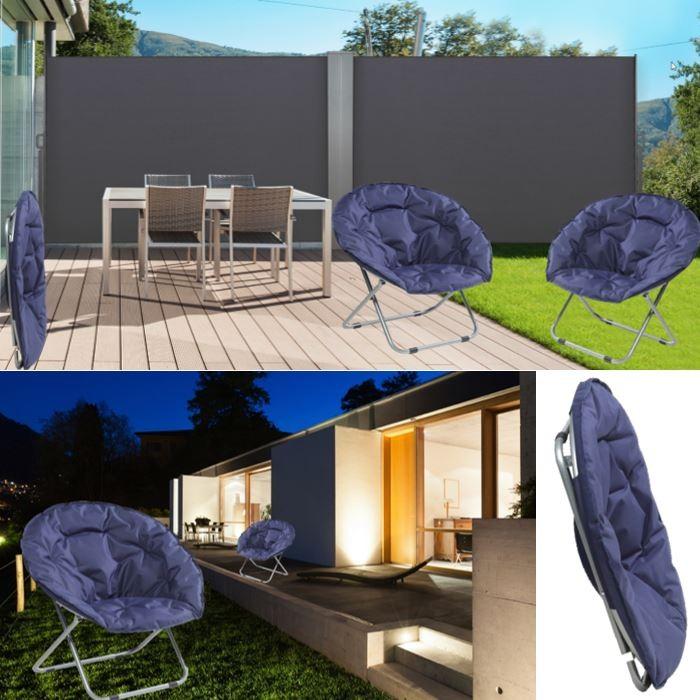 fauteuil lune pliant si ge rembourr ext rieur chaise camping. Black Bedroom Furniture Sets. Home Design Ideas