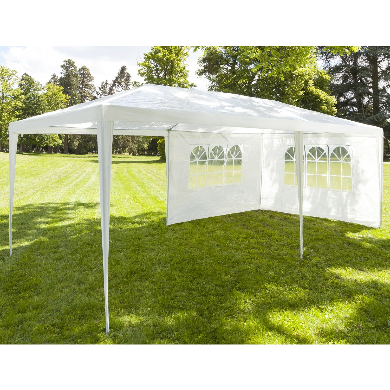 chapiteau 3x6 m tente tonnelle de r ception blanche avec 4 cot s c. Black Bedroom Furniture Sets. Home Design Ideas