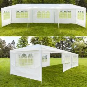 Chapiteau 3x9 m tente tonnelle de réception blanche avec 6 cotés