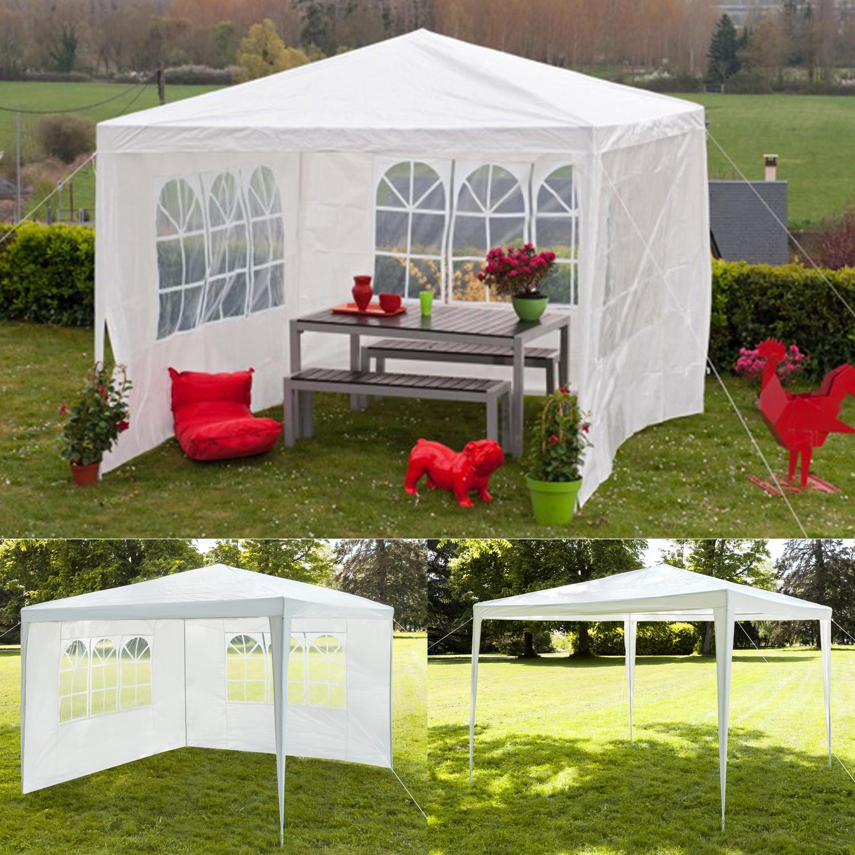 chapiteau 3x3 m tente tonnelle de r ception blanche sans c t chap. Black Bedroom Furniture Sets. Home Design Ideas