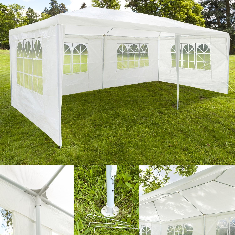 chapiteau 3x6 m tente tonnelle de r ception blanche sans cot chap. Black Bedroom Furniture Sets. Home Design Ideas