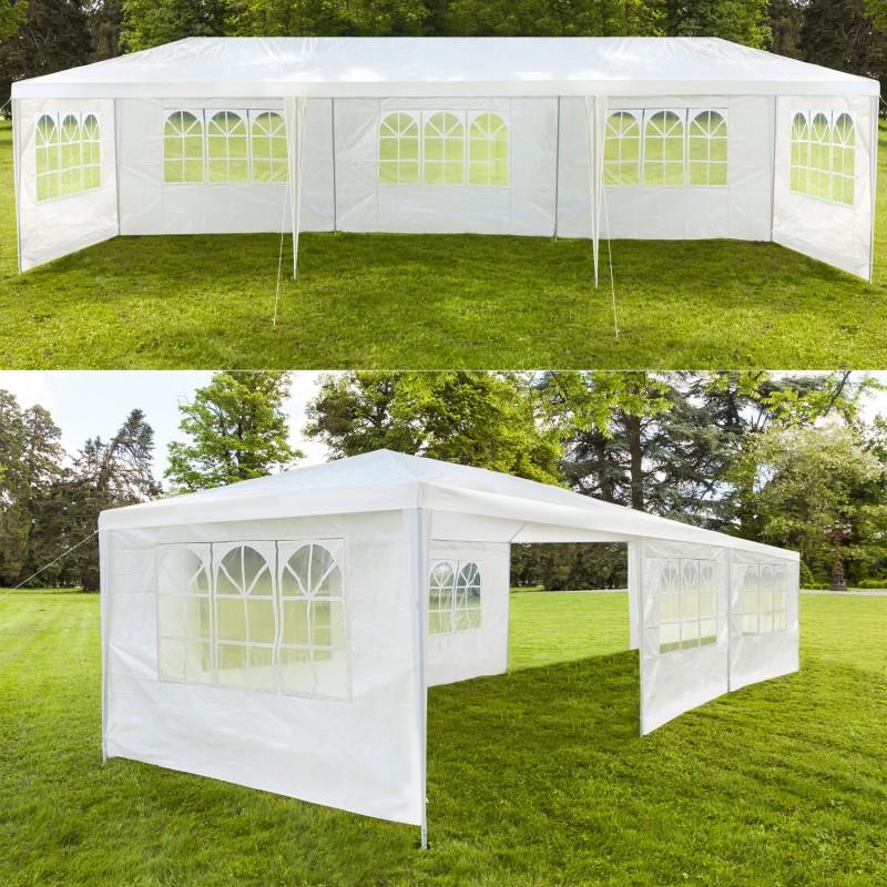 chapiteau 3x9 m tente tonnelle de r ception blanche sans cot chap. Black Bedroom Furniture Sets. Home Design Ideas