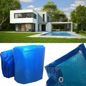 Bâche à bulles solaire pour piscine 5x8m couverture thermique
