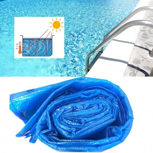 Bâche à bulles solaire pour piscine 6x10m couverture thermique