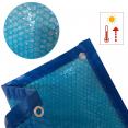 Bâche à bulles solaire pour piscine 8x14m couverture thermique