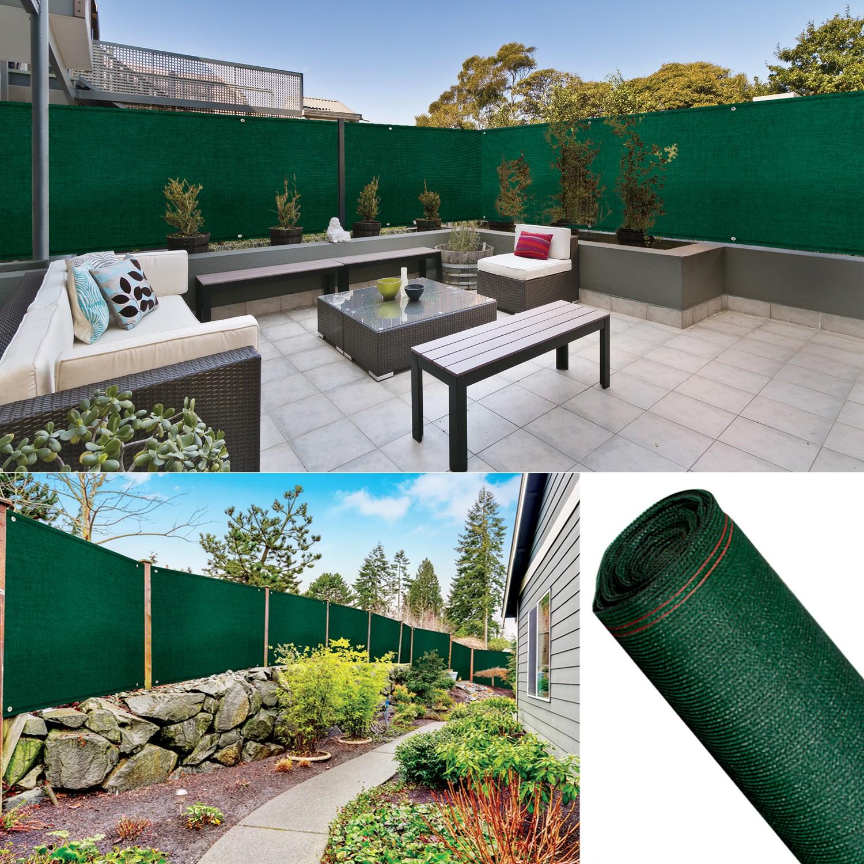 Hauteur Brise Vue Terrasse brise vue renforcé 1 x 5 m vert 220 gr/m² luxe pro probache