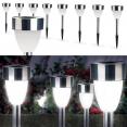 Lampe borne solaire X8 forme tulipe