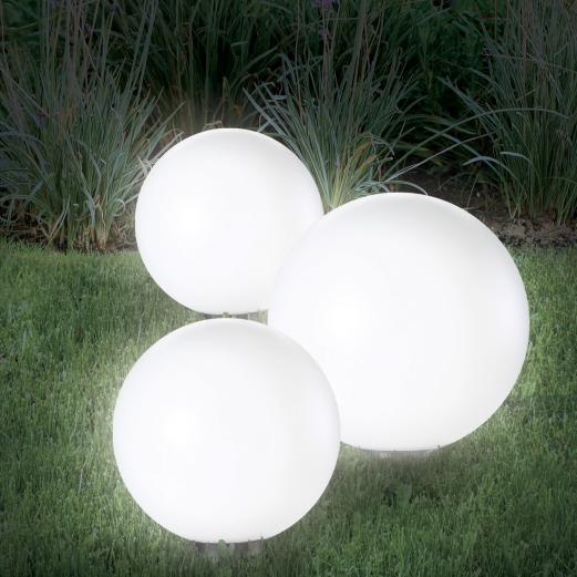 Lampe boule 15 cm solaire X2