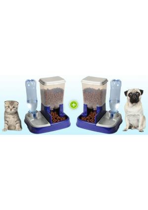 distributeur eau et croquettes automatique pour chien et chat anim. Black Bedroom Furniture Sets. Home Design Ideas