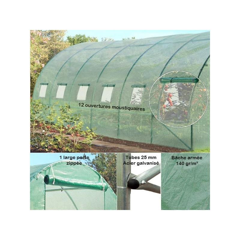 Stunning serre de jardin verte ideas amazing house for Jardin bache