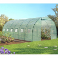 Grande serre de jardin tunnel 7 arceaux Pro galvanisé 18m² 6x3x2m verte