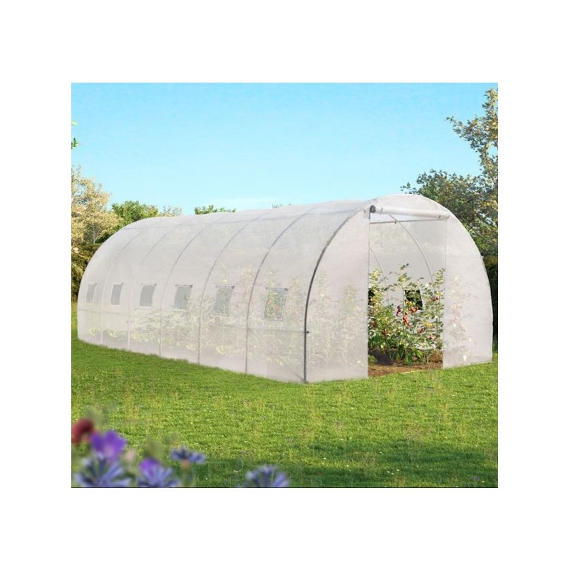 1 serre 18m blanche 2 rubans mousse pour proteger votre for Arceaux de jardin