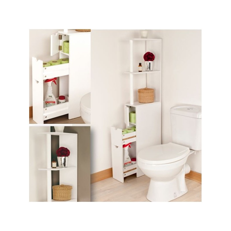 2 meubles wc pour ranger 2 fois plus pack promo. Black Bedroom Furniture Sets. Home Design Ideas