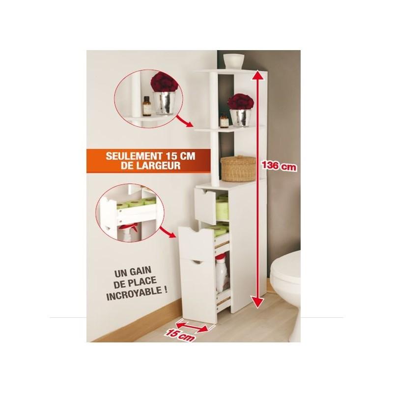 2 meubles wc pour ranger 2 fois plus pack promo. Black Bedroom Furniture Sets. Home Design Ideas