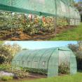 Grande serre de jardin tunnel toutes saisons 18 m² 180gr/m² verte
