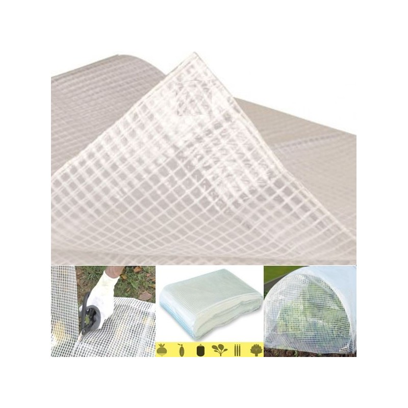 1 bache armee transparente 8x12m 1 kit pose illet pack. Black Bedroom Furniture Sets. Home Design Ideas